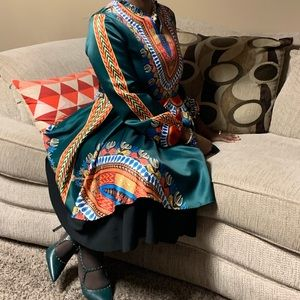 Dresses & Skirts - 😃😊Green African Print 👗 Dress